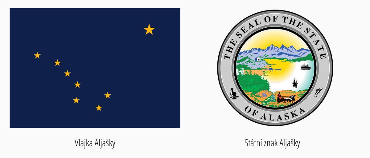 Vlajka Aljašky | Státní znak Aljaška