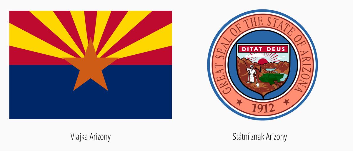 Vlajka Arizony | Státní znak Arizona
