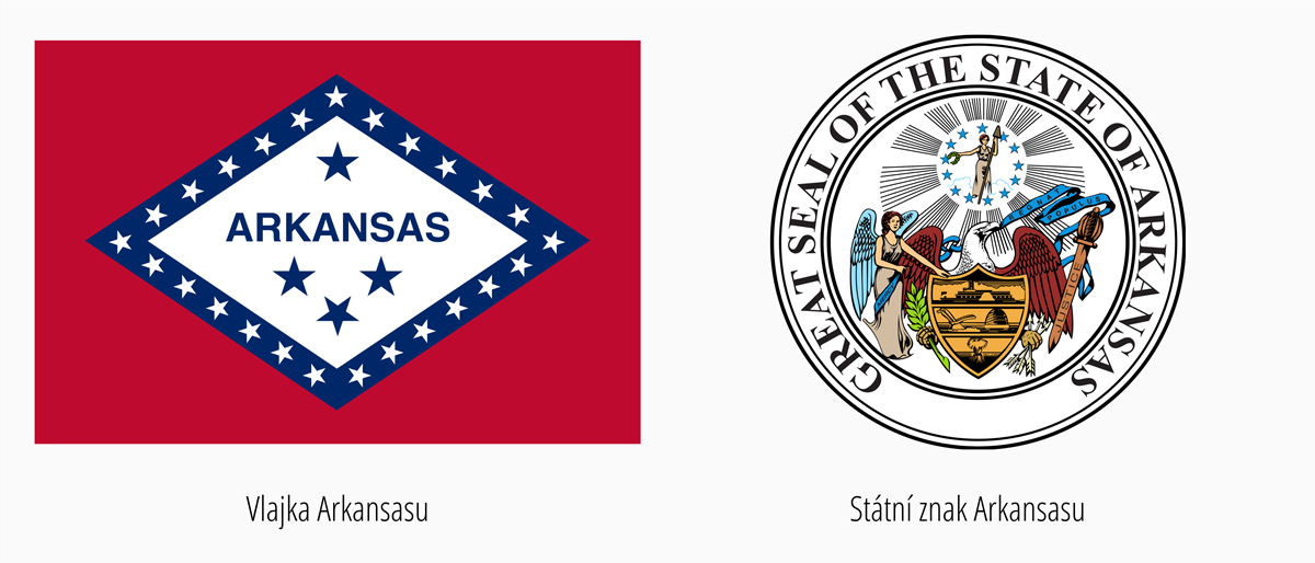 Vlajka Arkansasu | Státní znak Arkansas