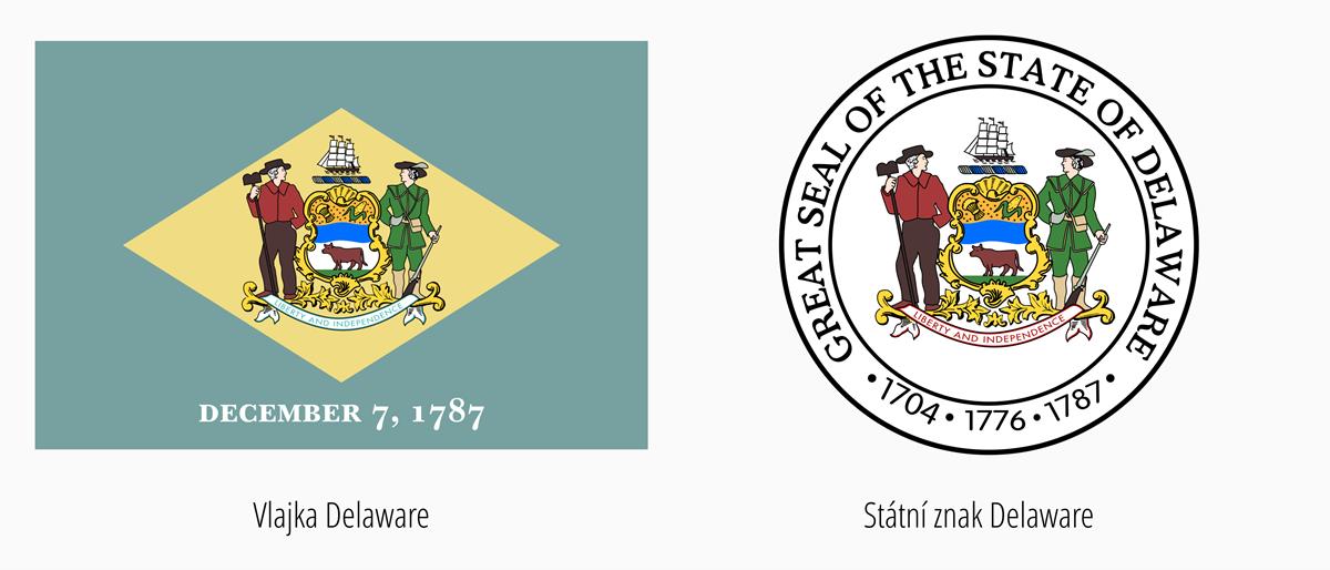 Vlajka Delaware | Státní znak Delaware