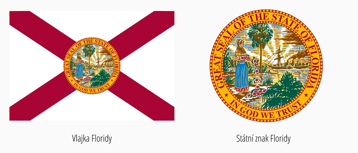 Vlajka Florida | Státní znak Florida