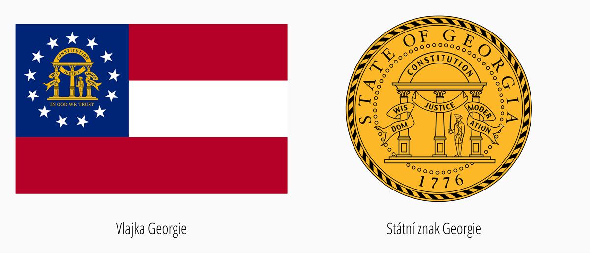 Vlajka Georgia | Státní znak Georgia