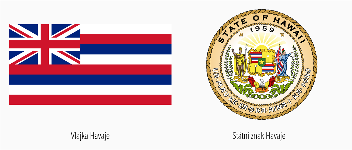 Vlajka Havaj | Státní znak Havaj