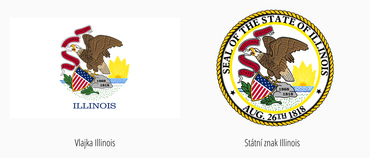 Vlajka Illinois | Státní znak Illinois
