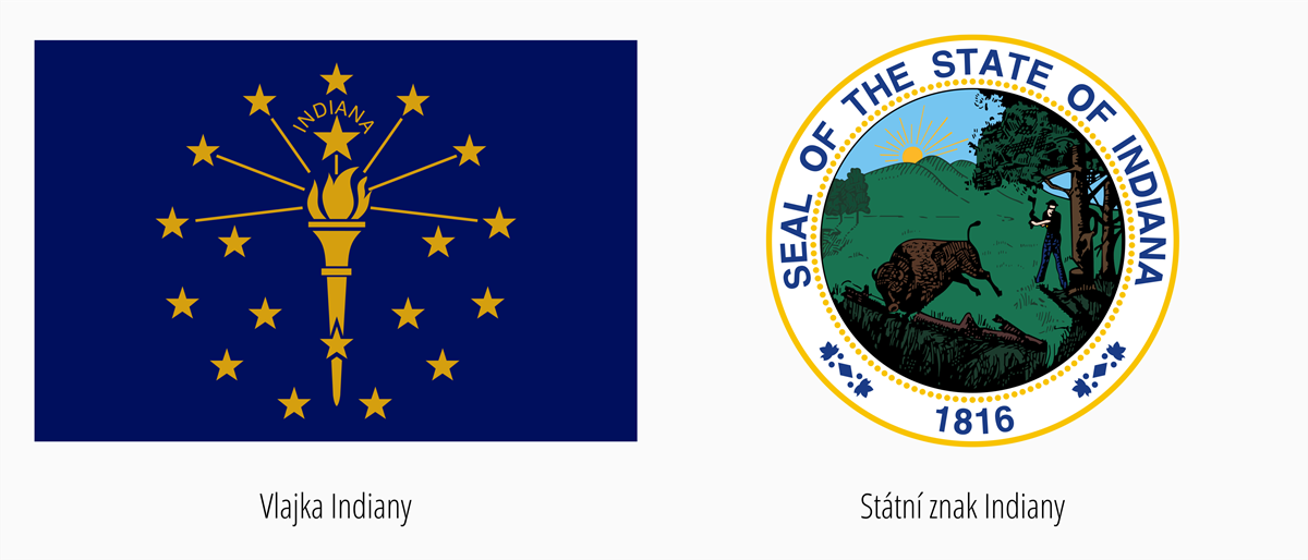 Vlajka Indiana | Státní znak Indiana