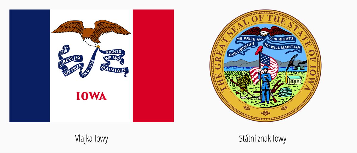 Vlajka Iowa | Státní znak Iowa