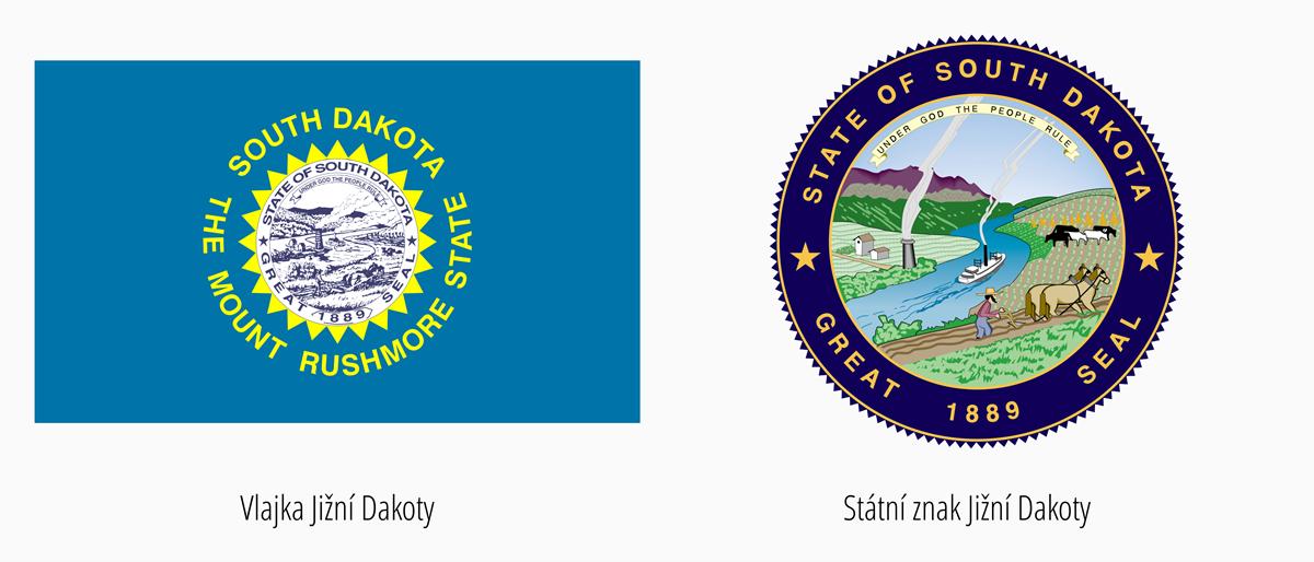 Vlajka Jižní Dakota | Státní znak Jižní Dakota