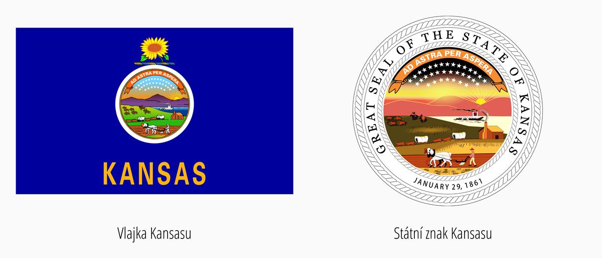 Vlajka Kansas | Státní znak Kansas