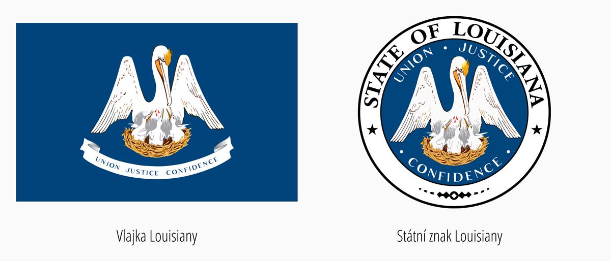 Vlajka Louisiana | Státní znak Louisiana