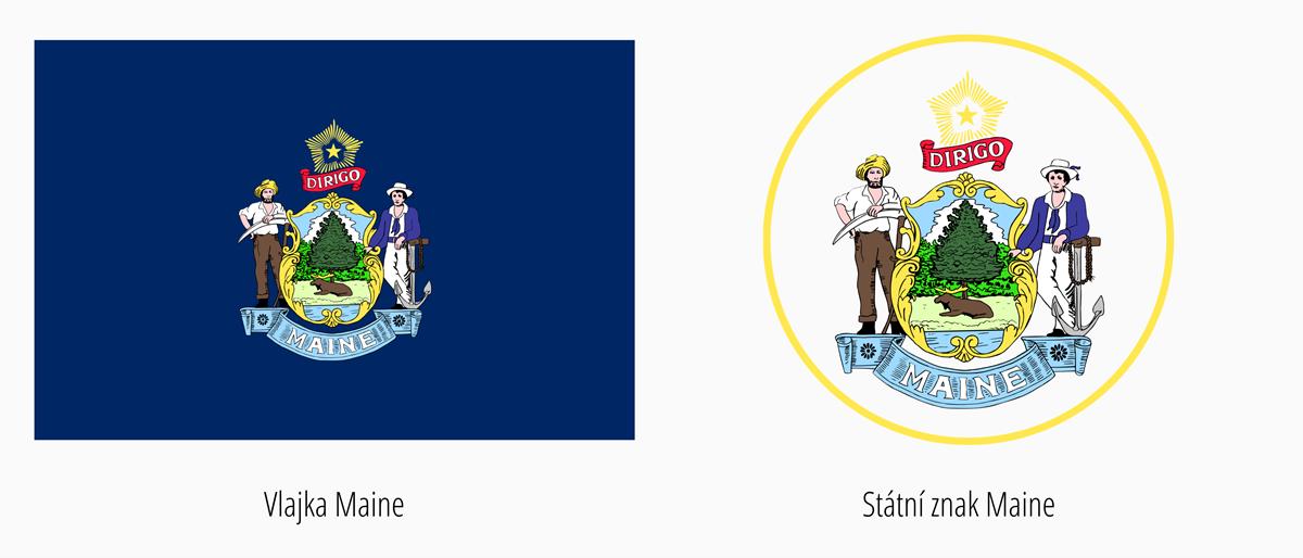 Vlajka Maine | Státní znak Maine