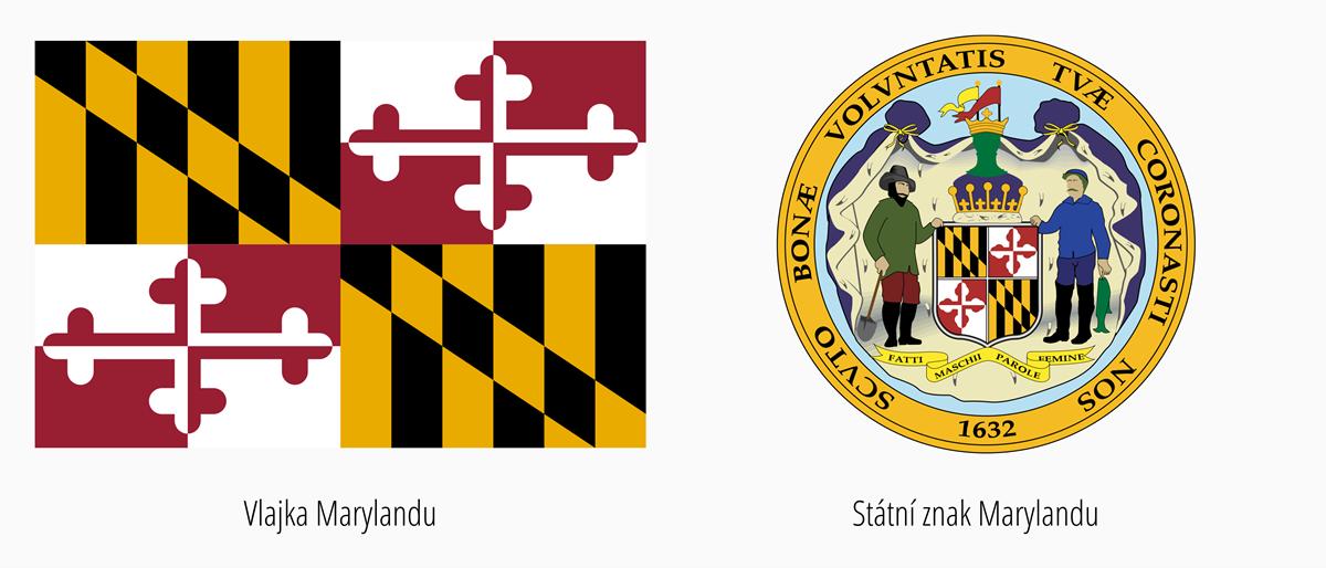 Vlajka Maryland | Státní znak Maryland