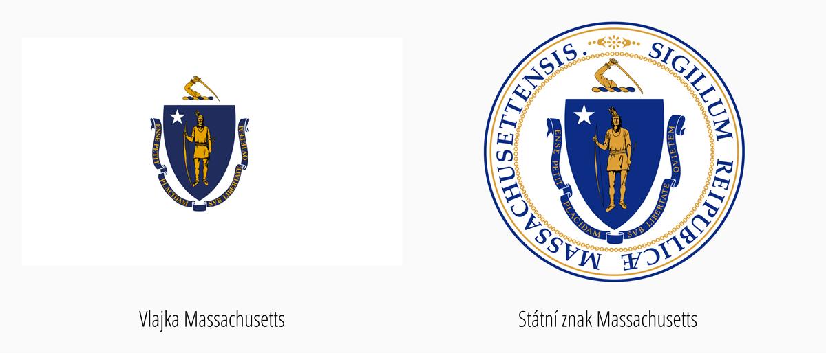 Vlajka Massachusetts | Státní znak Massachusetts