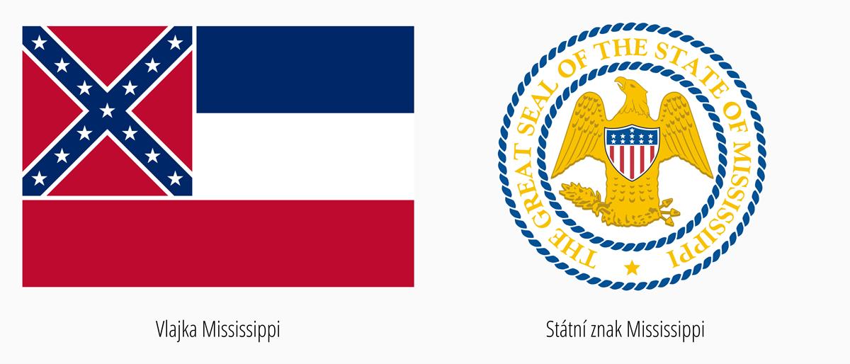 Vlajka Mississippi | Státní znak Mississippi
