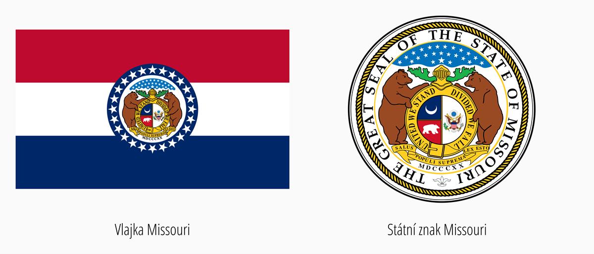 Vlajka Missouri | Státní znak Missouri
