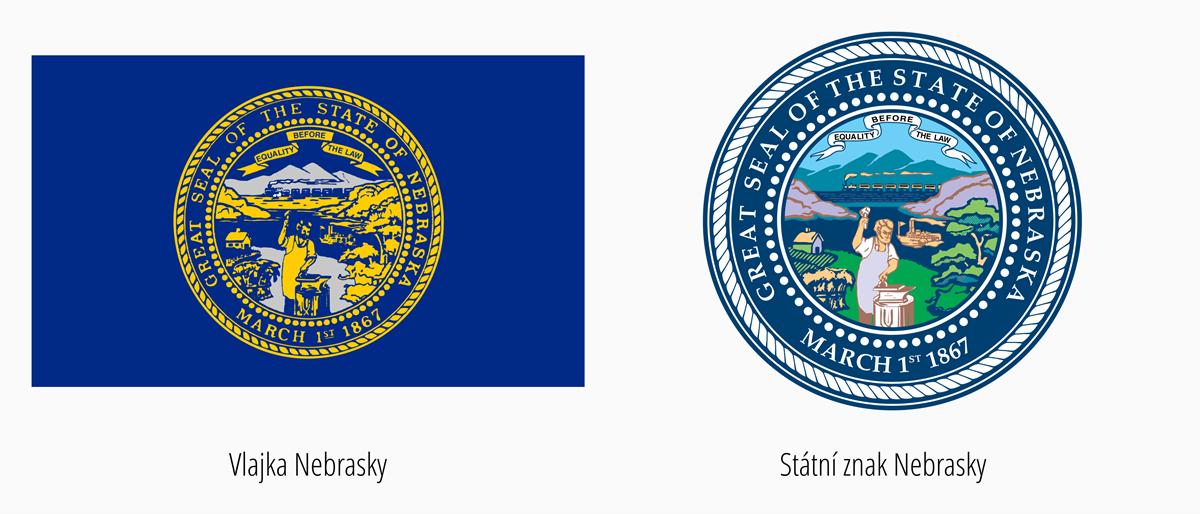 Vlajka Nebraska | Státní znak Nebraska