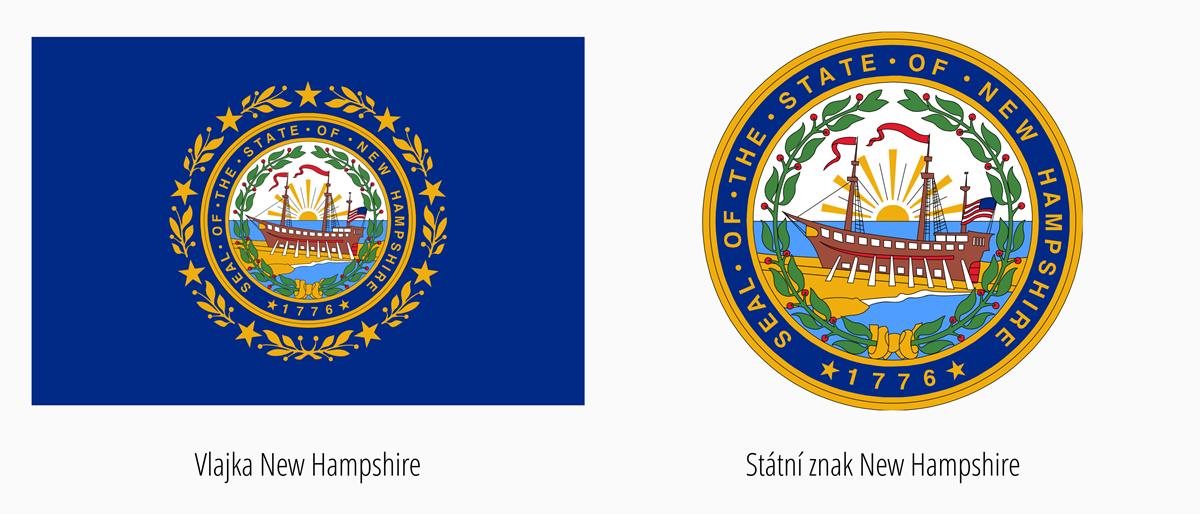 Vlajka New Hampshire | Státní znak New Hampshire