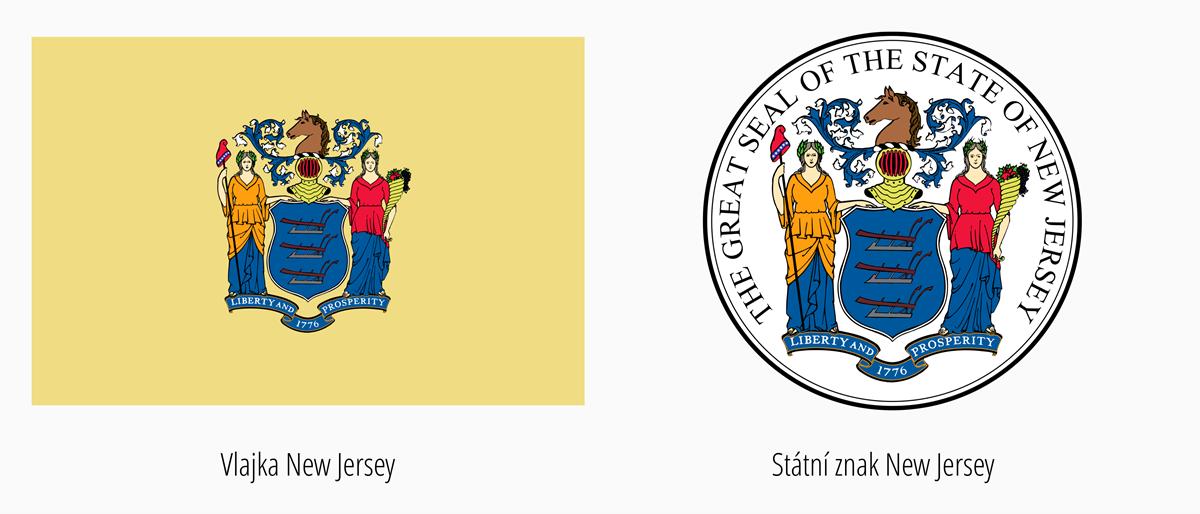 Vlajka New Jersey | Státní znak New Jersey