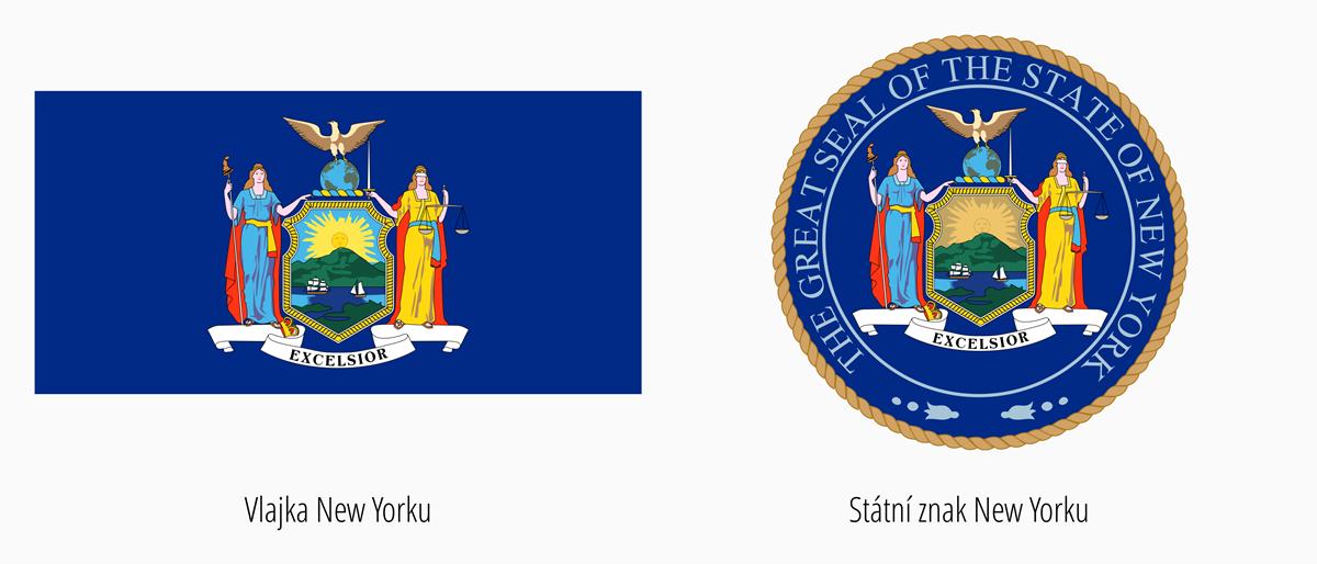 Vlajka New York | Státní znak New York