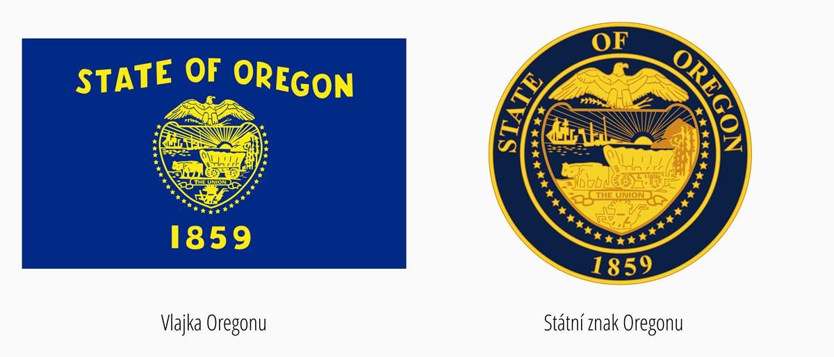 Vlajka Oregon | Státní znak Oregon