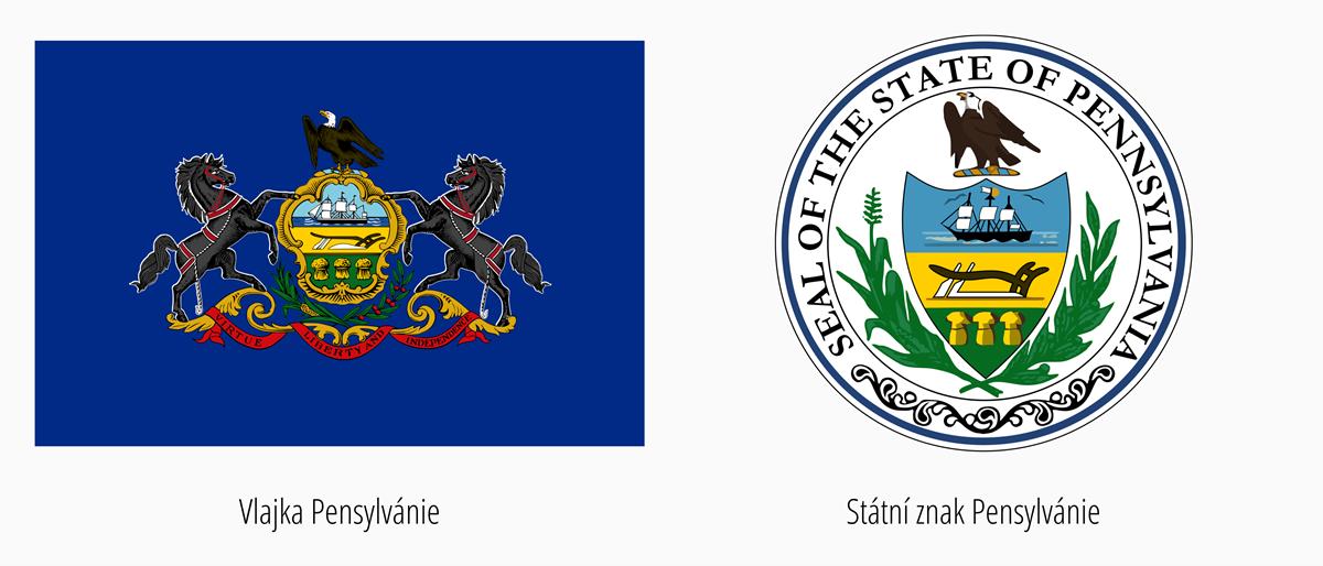 Vlajka Pensylvánie | Státní znak Pensylvánie