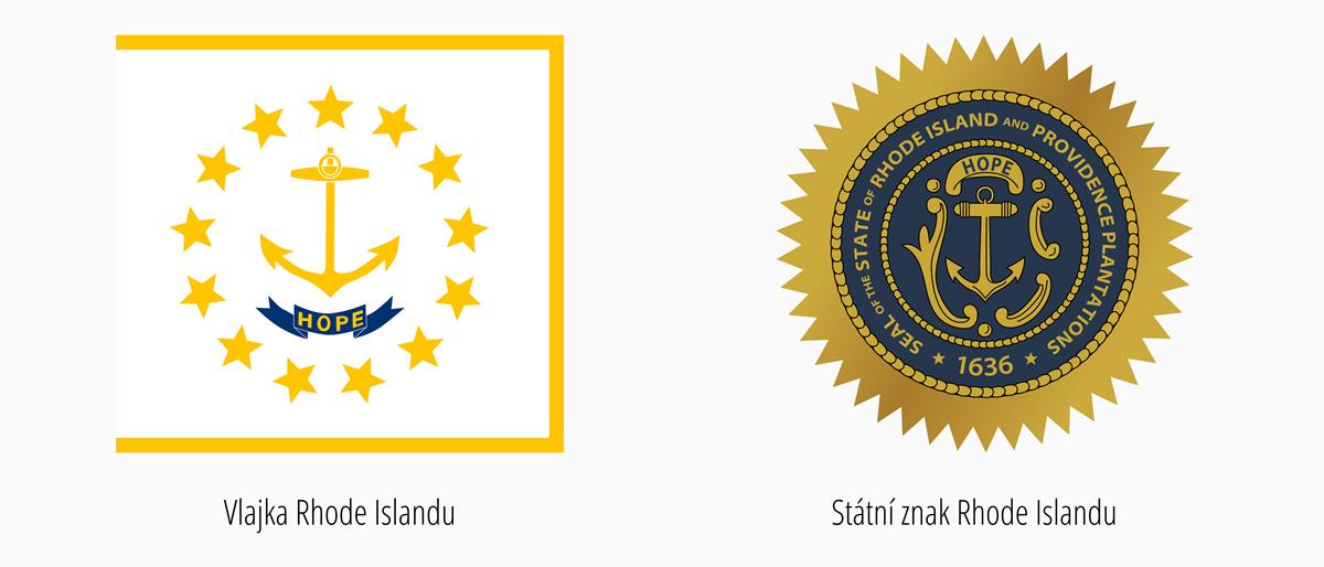 Vlajka Rhode Island | Státní znak Rhode Island