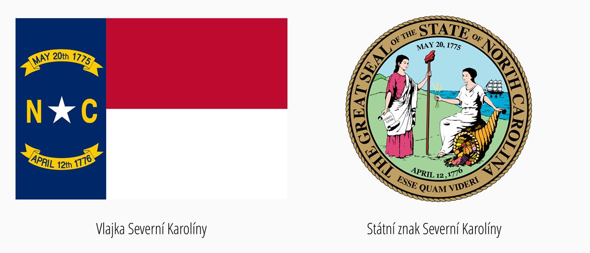 Vlajka Severní Karolína | Státní znak Severní Karolína