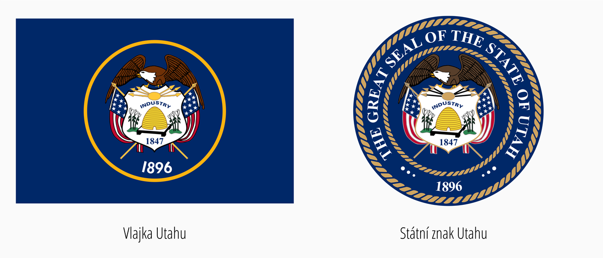 Vlajka Utah | Státní znak Utah