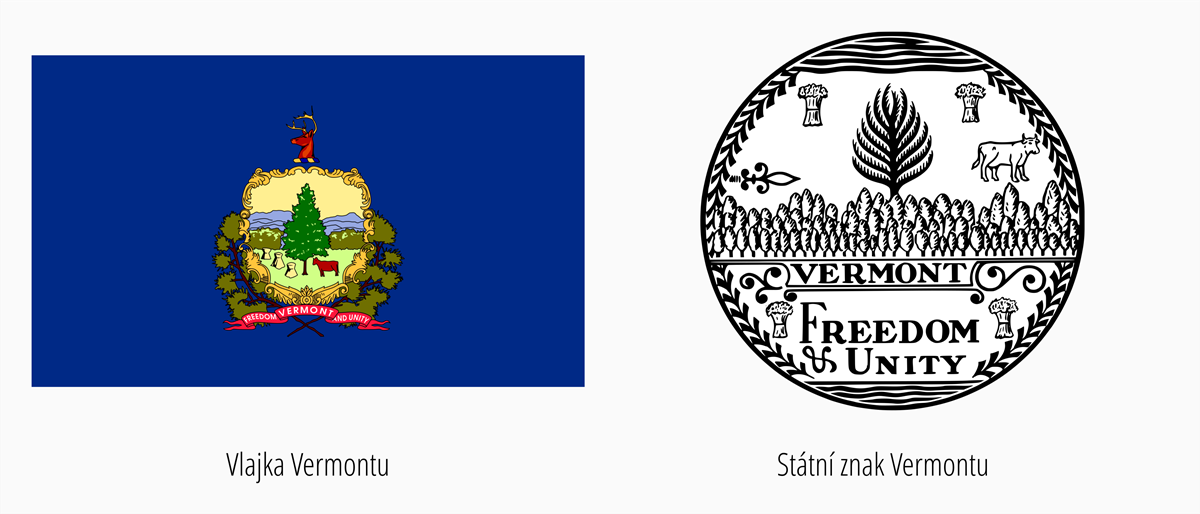 Vlajka Vermont | Státní znak Vermont
