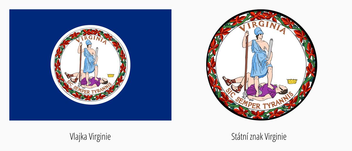 Vlajka Virginie | Státní znak Virginie