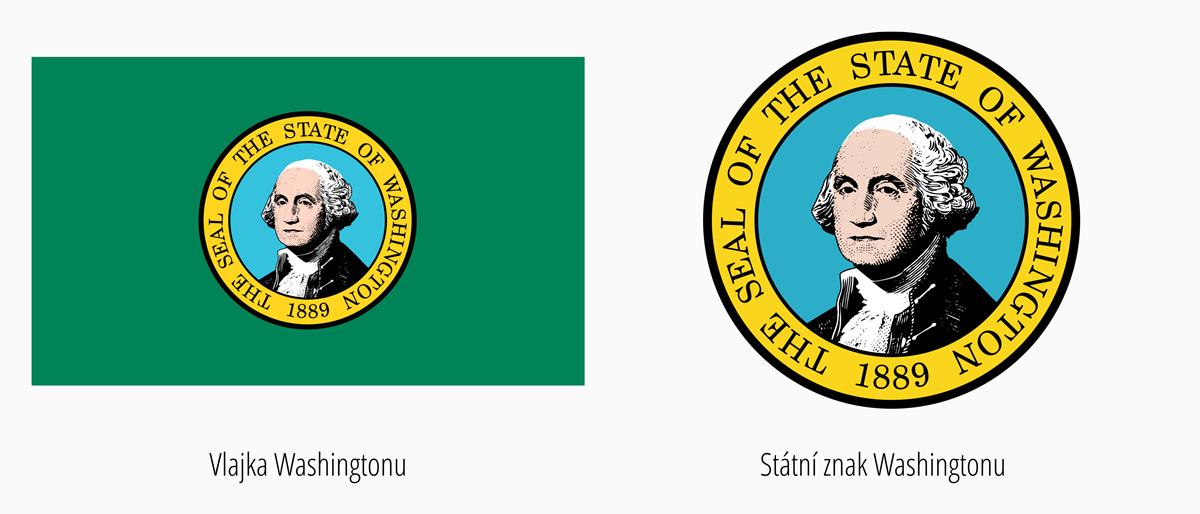 Vlajka Washington | Státní znak Washington