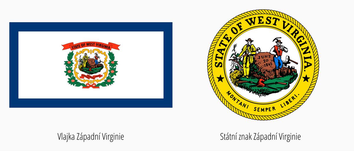 Vlajka Západní Virginie | Státní znak Západní Virginie