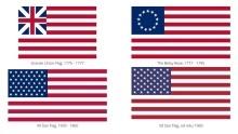 Vlajka USA: Zajímavosti, historie avývoj 13 pruhů a50 hvězd