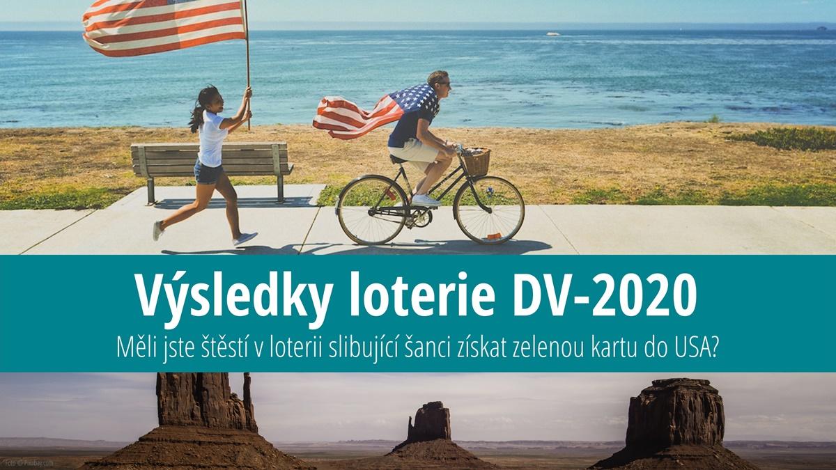Výsledky loterie o zelenou kartu do USA 2020 (DV-2020)