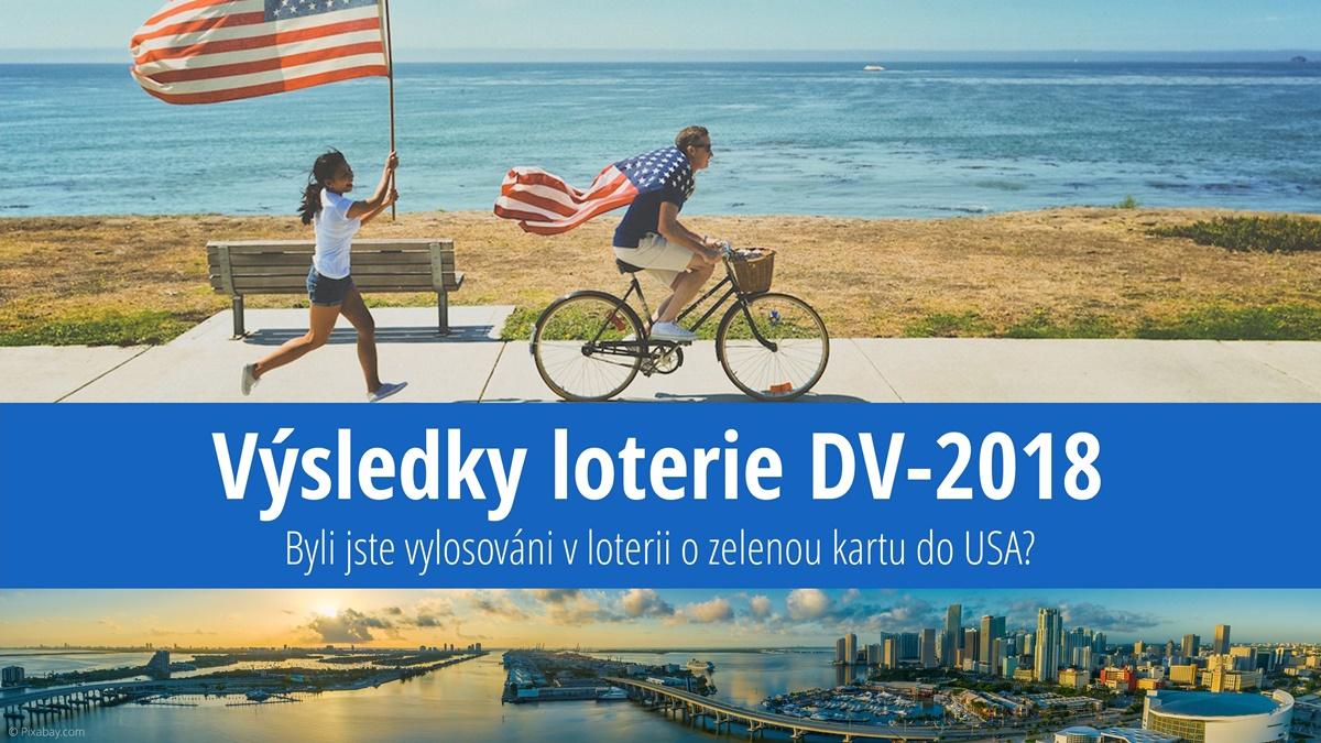 Výsledky loterie o zelenou kartu do USA 2018 (DV-2018)